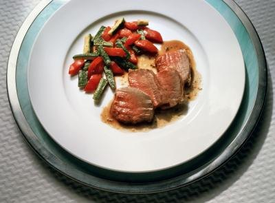 Lamb with vegetables.