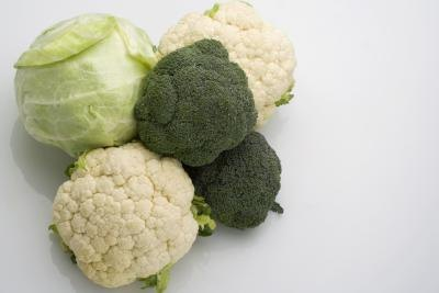 Brocoli, cabbage, cauliflower