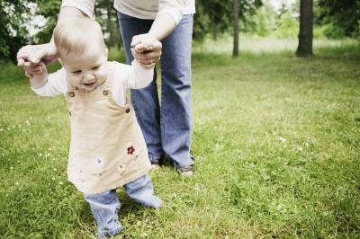 Most 17-month-old toddlers walk with ease and even climb.