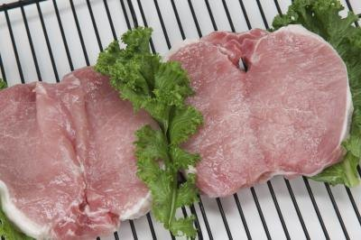 Thin-cut pork chops need high heat for a short time to seal in juices and properly cook the  meat throughout
