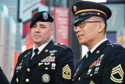 Army Sergeants at New York City event