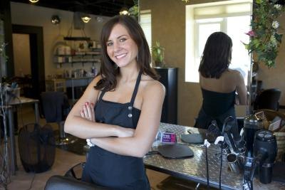 The self-employed hairdresser can deduct health insurance premiums at 100 percent of cost.