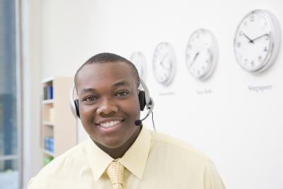 Call center worker