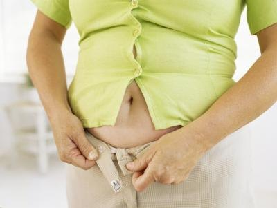 Bloating can cause abdominal distention.