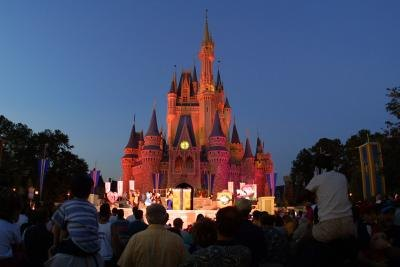 Cinderella's castle at Walt Disney World theme park