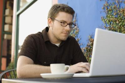 Laptop users often connect to public Wi-Fi services.