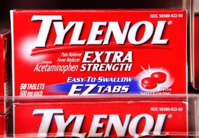 Tylenol on the shelf