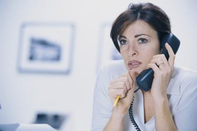 woman on phone with health department