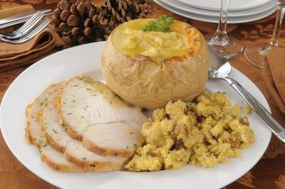 Many people think of turkey when they think of stuffing.