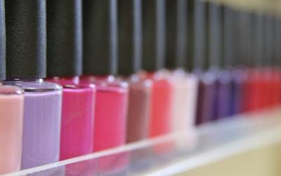 Assortment of nail polishes