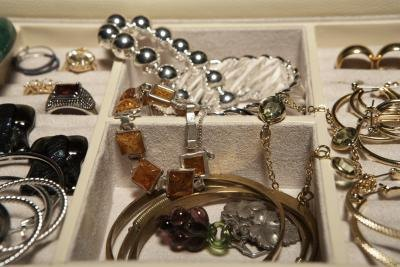 Heirloom or estate jewelry may be passed through the family.