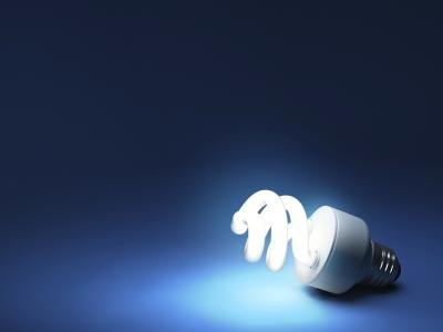 Use energy efficient light bulbs.