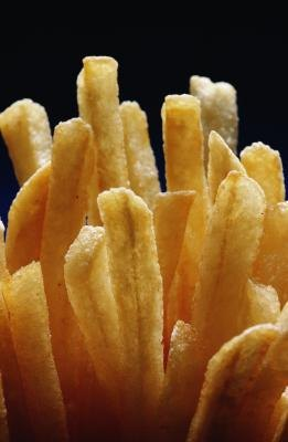 Fries are high in carbs.