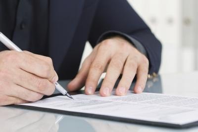 A company may have an account holder sign an agreement.