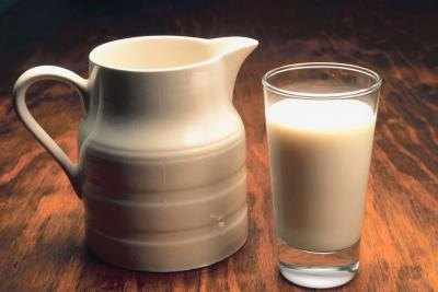 A jug and glass of milk.
