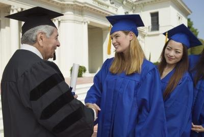 Women graduating from college