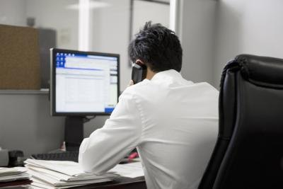 Make sure to maintain good posture while working at a desk.