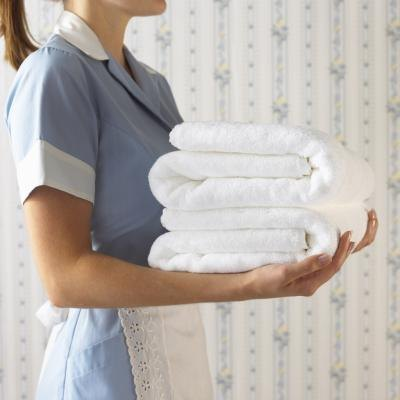 Hotel maid and towels