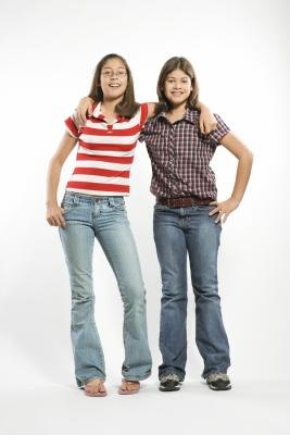 Two teen girls