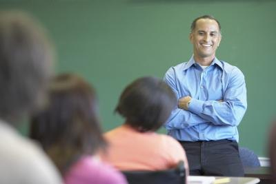 Teacher in class room