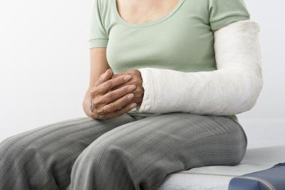 Person with broken arm