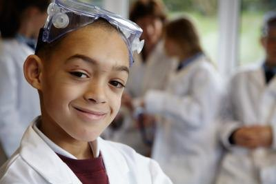 Ask teachers and students to dress up like nerdy scientists.