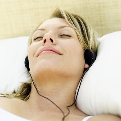 Listen to relaxing sounds.