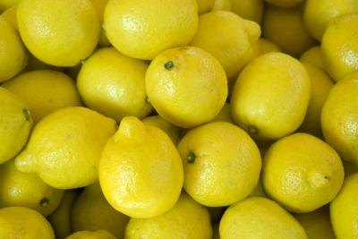 Put some lemon juice into hot water for a soothing drink.