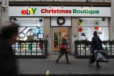ebay Christmas boutique in London, England