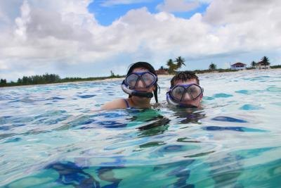 Couple snorkeling in Florida waters