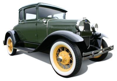 Old automobiles did not require licenses to drive.