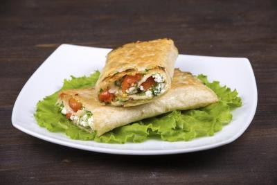 Pita bread wrap.