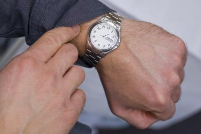 Wrist watches are traditional wedding gifts for the groom.