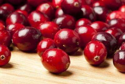 Ripe cranberries