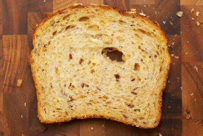 A slice of whole grain bread.