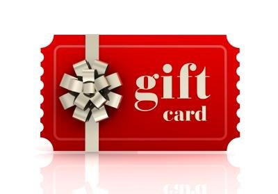Gift card for store.