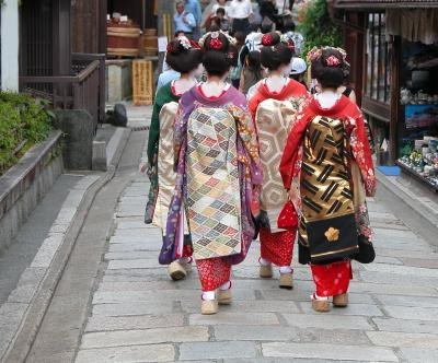 Geishas in Japan
