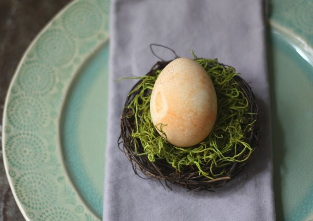 Decorate with naturally dyed eggs.