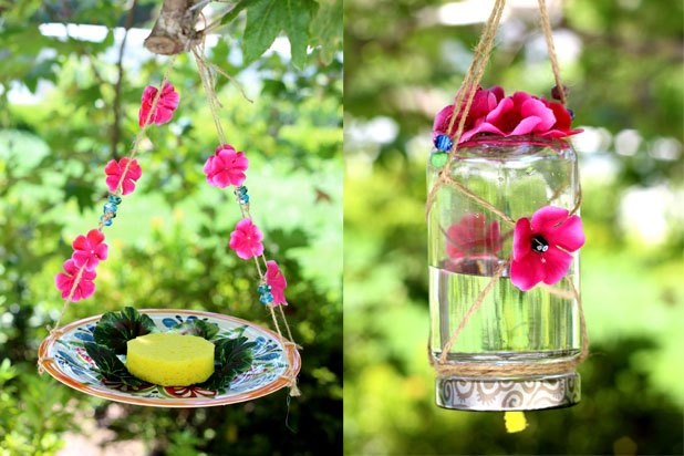 Attract butterflies to your garden with these inexpensive DIY feeders.