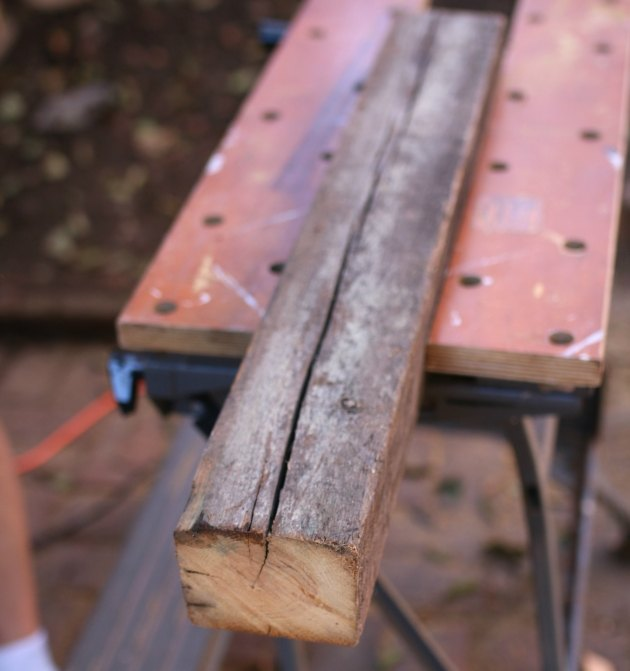 Tip: Use a workbench that doubles as a vice.