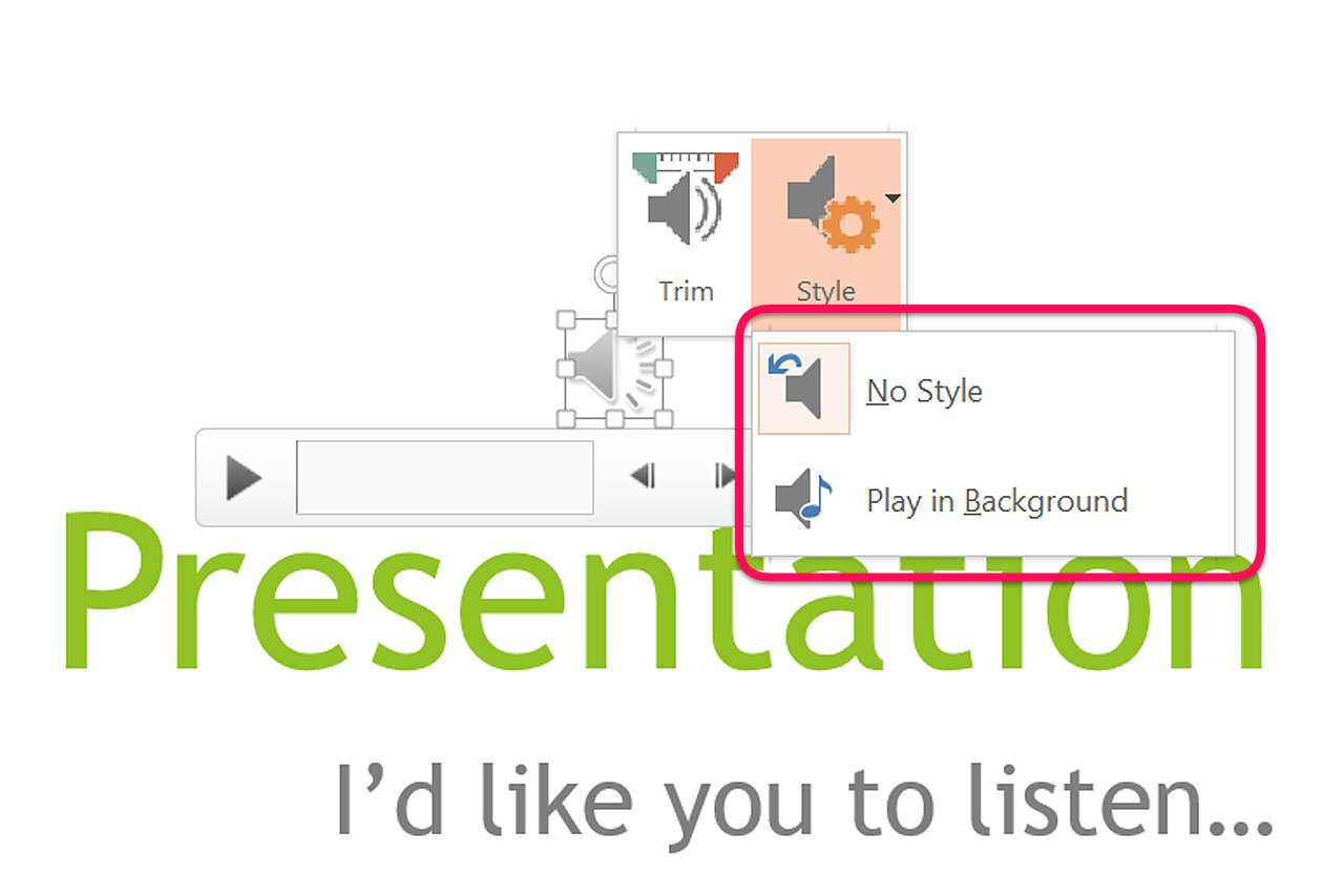 how to put music in slideshow powerpoint