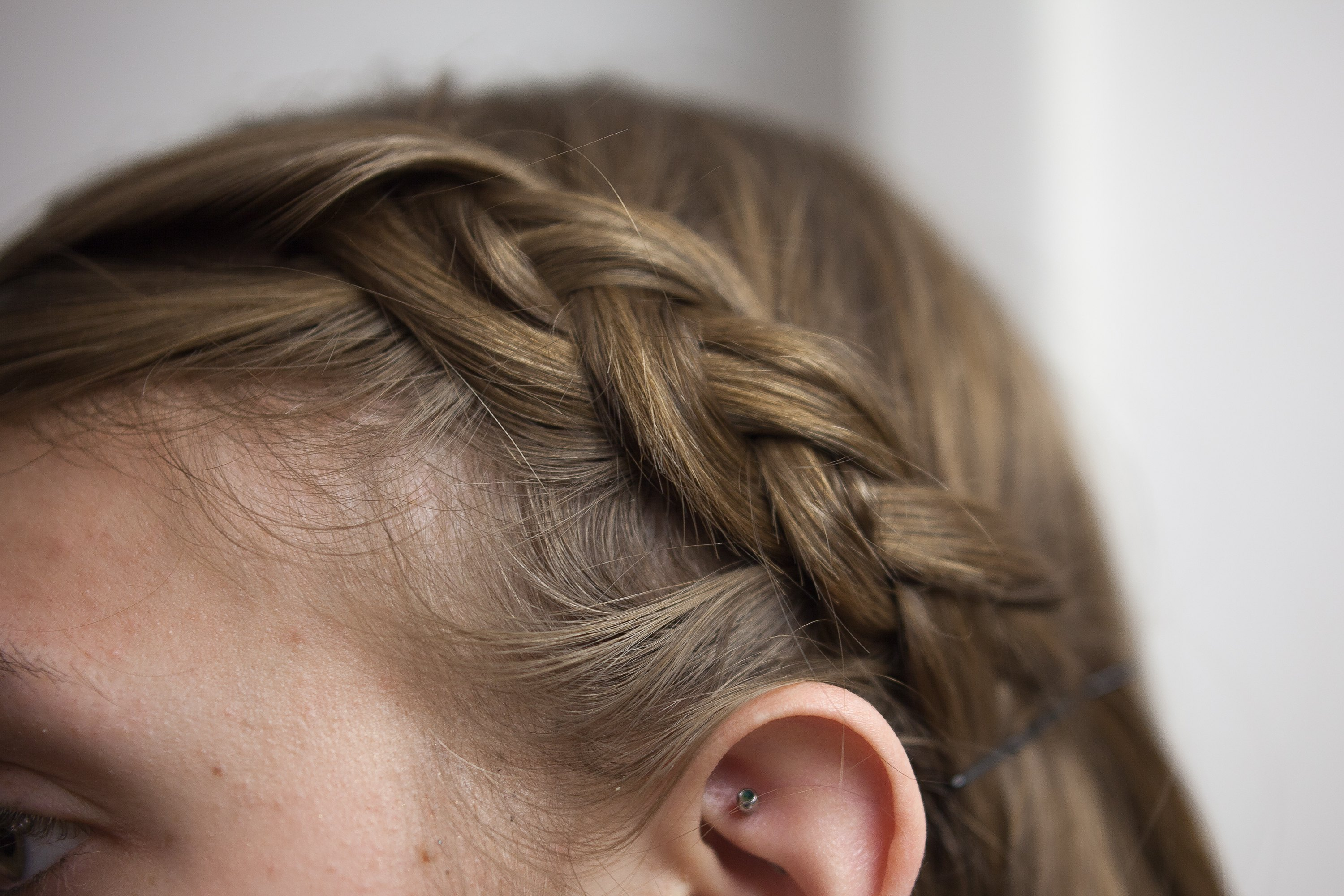 How to french braid your bangs steps