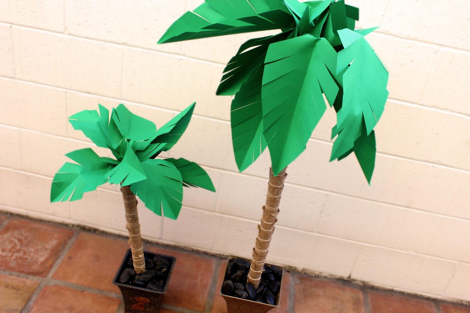 Пальма из цветной бумаги своими руками фото