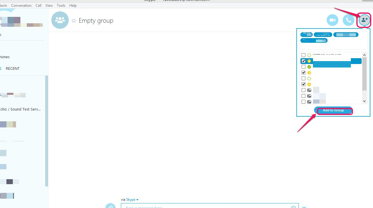 how to create group chat on skype