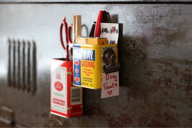 Spice up your kitchen while controlling clutter with transformed tins