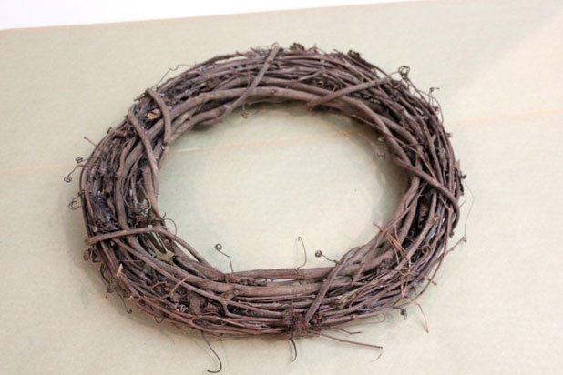 Start with a grapevine wreath form.