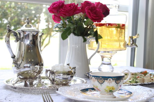 Silver platters and teapots date back to the 18th century.