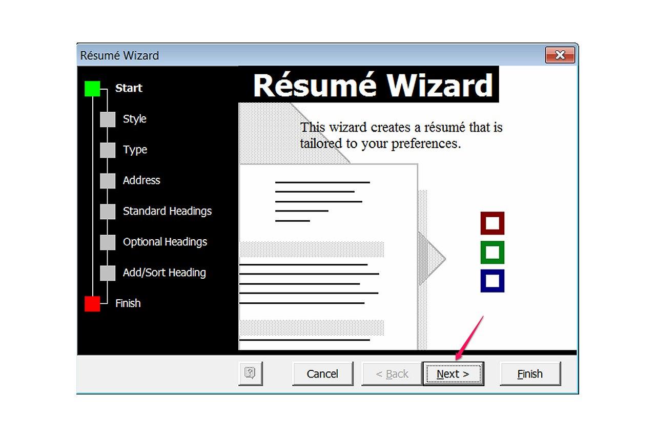 Nice Microsoft Word Resume Wizard Template