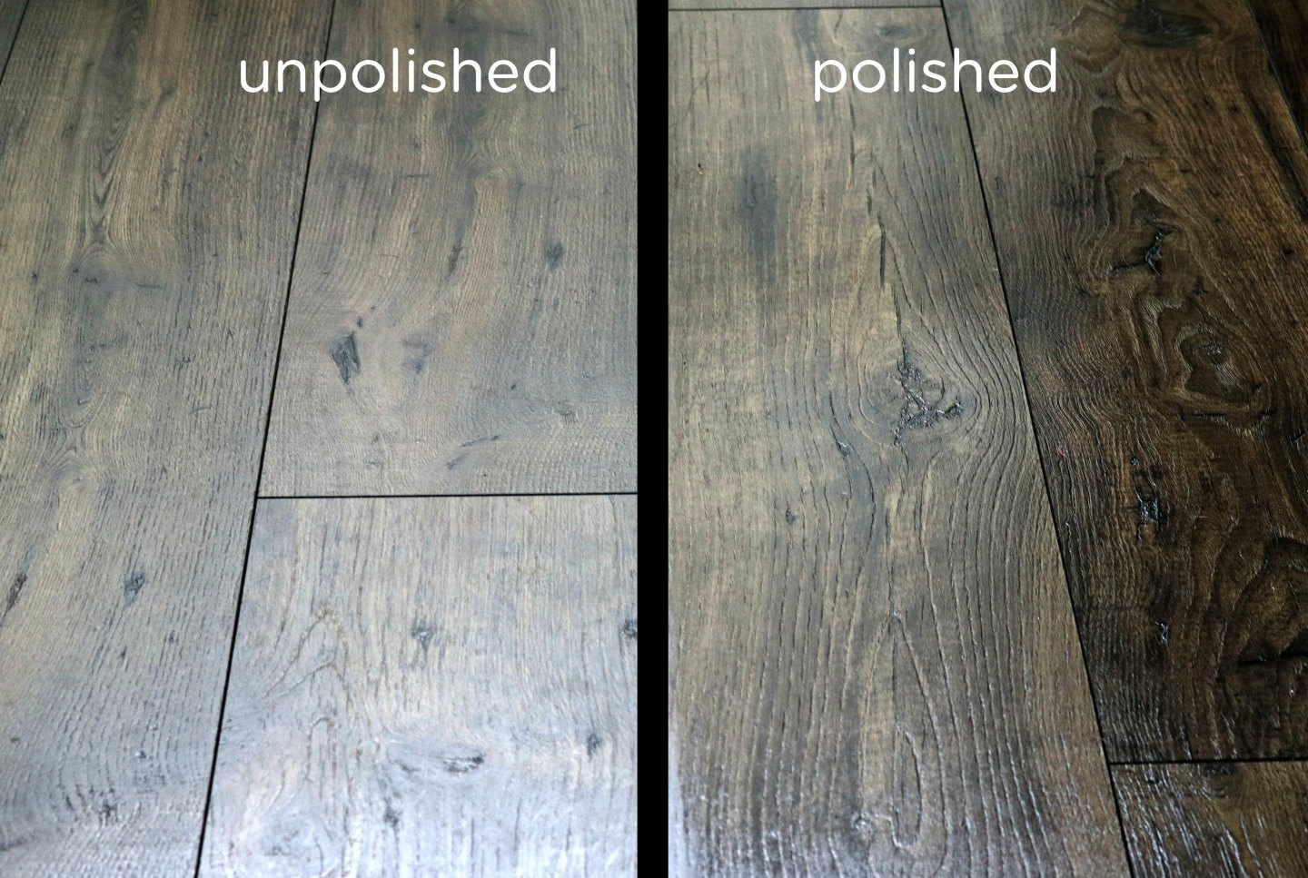 Homemade floor polish recipe to restore shine to wood ehow for Hardwood floors dull after cleaning
