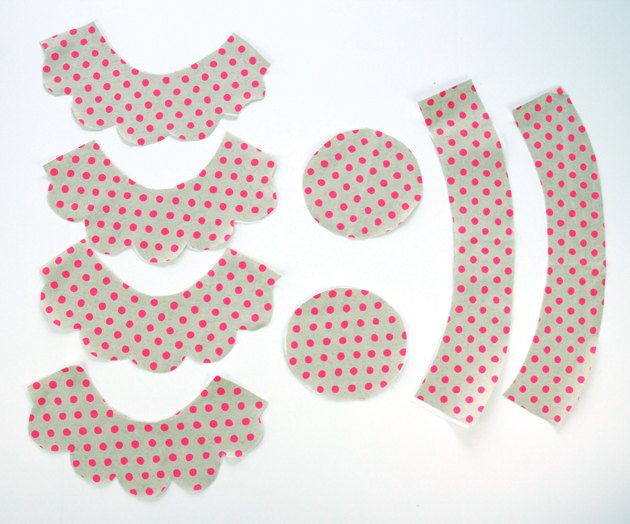 Cut out pattern pieces from the fabric